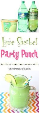 Lime Sherbet Party Punch Recipe! ~ from TheFrugalGirls.com/ ~ the perfect  punch