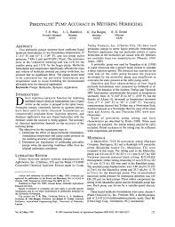 (PDF) <b>Peristaltic</b> Pump Accuracy in Metering Herbicides