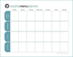 Planned Meals For A Week Weekly Planner Meals Under Fontanacountryinn Com