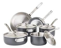 viking cookware set. Contemporary Set Viking 5Ply Hard Stainless Cookware Set With Anodized Exterior 10  Piece To G