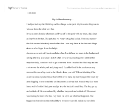 an essay about childhood memory questions movie review thesis  example essay about myself essays