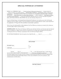 Full Power Of Attorney Template Free Sample Poa Letter Template