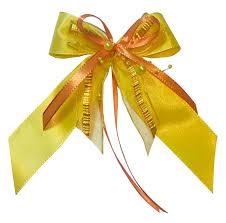 10 Weihnachtsschleifen Christbaumschmuck Schleifen Geschenke Weihnachten Ws1926 Gelb Orange