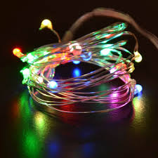 20 Led Lights Battery Operated String Decoration Light Multi Color Red Green And Blue Flashing Lights 20led 2m Battery Operated For Christmas Wedding And Parties