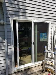 sliding glass door replacing french doors