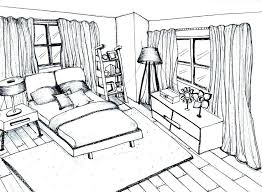 kitchen drawing perspective. Interesting Kitchen Living Room Drawing Perspective Bedroom  La 1 Point One  Inside Kitchen