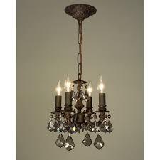 majestic 4 light mini chandelier crystal type swarovski elements finish aged pewter