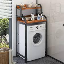 Kệ 2 tầng để sau máy giặt khung thép phun sơn tĩnh điện màu đen - Kệ 3 tầng  để đồ phía trên bồn cầu tiết kiệm không gian