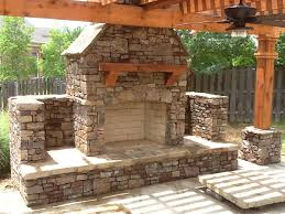 prefab outdoor fireplace decorating