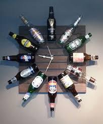 diy beer bottle clock