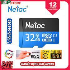 Thẻ Nhớ MicroSD NETAC 32GB Class10 Chuyên Dụng Cho Camera Máy Ảnh