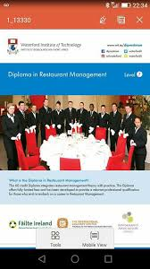 diploma in restaurant management at w i t home facebook drag to reposition