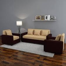 Brown sofa sets Wooden Previous Avantgarde Furniture Bharat Lifestyle Tulip311 Fabric  Brown Sofa Set Codecommerce