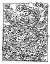 Small Picture Free coloring page coloring adult dragon An impressive Dragon to