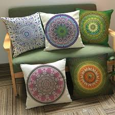 mandala cushion cover decoration indian religious belief decor pillow bohemia pillowcase throw pillow case home chair seat car sofa queen size pillow cases
