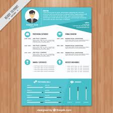 blue modern resume template modern blue resume template vector free download