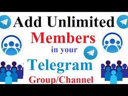 add unlimited members in your telegram