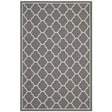 avena moroccan quatrefoil trellis 8x10 indoor and outdoor area rug in gray and beige