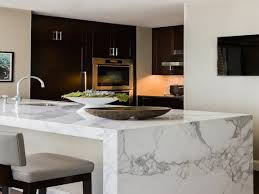 Small Kitchen With Peninsula Kitchen Marble Waterfall Kitchen Island Island Waterfall Kitchen