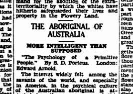 stereotypes prejudice of aboriginal creative spirits newspaper heading the aboriginal of more intelligent than supposed