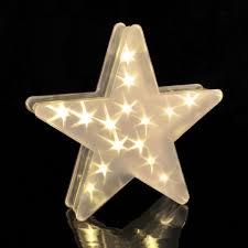 Led Deko Stern Mit Hologrammfolie 3d Effekt Weihnachtsstern Led Lichterkette