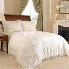 king size pillow shams standard shams size king size cotton chenille bedspread in ivory
