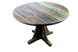 rustic dining table set canada round wood kitchen scenic pedestal