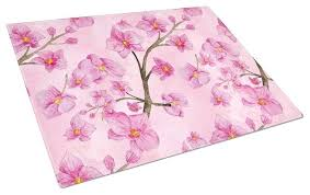 large glass cutting board watercolor pink flowers glass cutting board large contemporary cutting boards by the