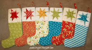Quilt Inspiration: Free pattern day! Christmas stockings & Chimney Charmers Stockings, free pattern by Jill Finley of Jillily Studio  as seen at All People Quilt Adamdwight.com