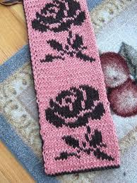 Reversible Rose Scarf Judys Knitting Page