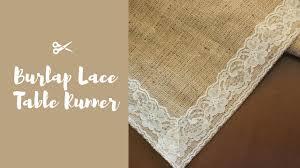 diy burlap lace table runner