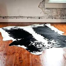 large cowhide rug cowhide rug authentic bourbon boots home decor large black and white cowhide rug