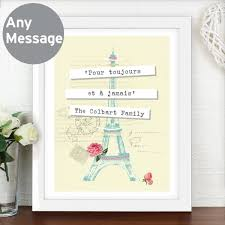 personalised vine pastel travel white framed poster print the bathroom gifts for