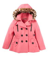joe ella pink houndstooth pea coat baby toddler little girls