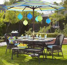 patio table umbrella decor