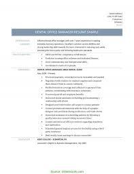 Useful Dental Office Manager Resume Impressive Office Manager Sample