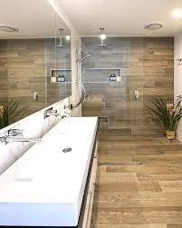 wood tiles in shower wood imitating shower tiles wood look tile shower surround