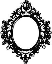 antique black frame. Vintage Clipart Mirror Frame #3 Antique Black