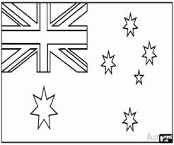 Kleurplaat Vlag Van Australië Kleurplaten