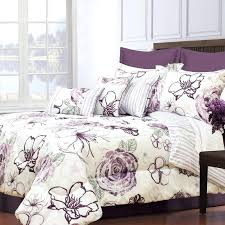 plum and gray comforter set purple gray and white fl bedding set ss plum and gray