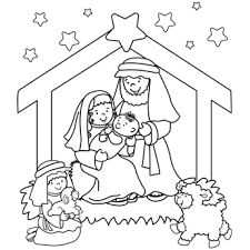 It was a clear and starry night when jesus was born, as illustrated by this coloring page. Nativity Coloring Page Nativity Coloring Pages Christmas Coloring Pages Free Christmas Coloring Pages