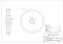 Involute Tooth Design Involute Gear Mechanical Drafting Services