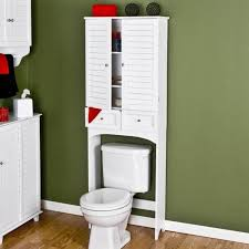 white wooden bathroom furniture. Bathroom. White Wooden Bathroom Storage Over Toilet With Shelves Combined Green Painted Wall Furniture A