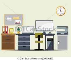 office working table. Office Working Table Icon Vector Office Working Table