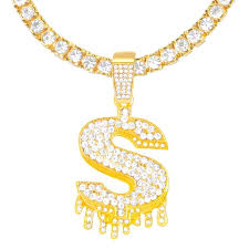 We can help in the process by offering a free consultation to help come up with your ultimate final production that will always supersede your expectations! Iced Out Gold Tone 3d Dripping Dollar Sign Pendant 24 Inch Tennis Chai Icy Box