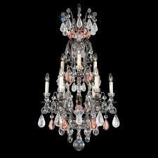 schonbek renaissance 10 light rock crystal chandelier