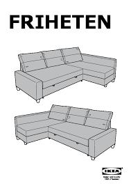 friheten chaise for corner sofa bed