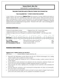 Resume Templates For Registered Nurses Cool Objective Nursing Resume Sample For Registered Nurse Graduate
