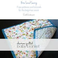 How to make a baby quilt | Craft Snob & Bite Sized Sewing: Easy Quilted Baby Blanket Adamdwight.com