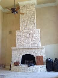Austin Stone Fireplace .
